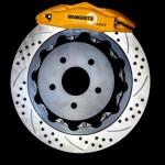 Yellow. 4 pot. black rotor._